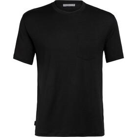 Icebreaker Ravyn T-shirt manches courtes Col ras-du-cou avec Poche Homme, black